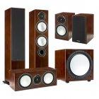 Комплект Monitor Audio Silver set 5.1 walnut (6+1+Centre+W12)