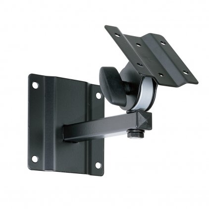 EuroMet BYR Настенный кронштейн для установки громкоговорителя до 10кг, пластина 100 х 80 mm, с регулировками поворота и наклона, сталь черного цвета.