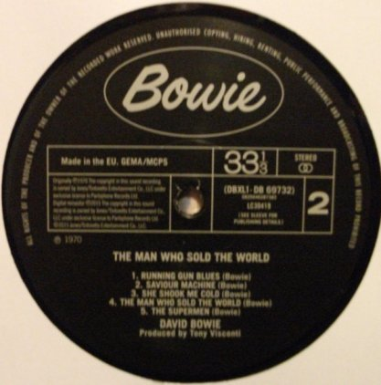 David Bowie THE MAN WHO SOLD THE WORLD (180 Gram)