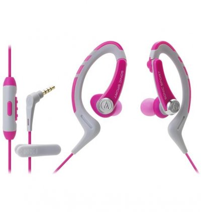 Наушники Audio Technica ATH-SPORT1iS pink