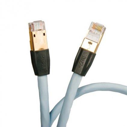 LAN кабель Supra CAT 7+ STP Patch FRHF Blue 0.5m