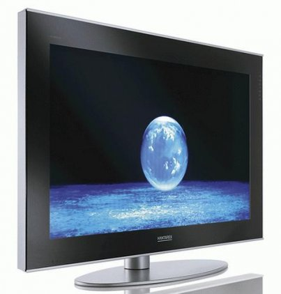 "ЖК телевизор Hantarex lcd 42"" BRI/MIR черное зеркало,  алюминиевая рамка"