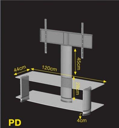 Подставка под ТВ и HI-FI Ultimate PD 9544N silver alu