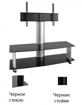 Подставка под ТВ и HI-FI Ultimate PD 1244B black alu