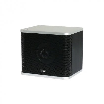 T+A K-Mini black cabinet with silver aluminium covers