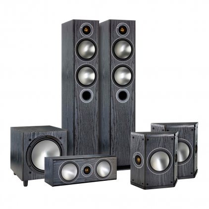 Комплект акустики Monitor Audio Bronze AV 5.1 black oak