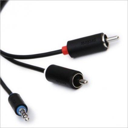 Кабель межблочный Prolink PB103-0500 (3.5Jack - 2RCA (M-M), стерео-аудио, 5м.)
