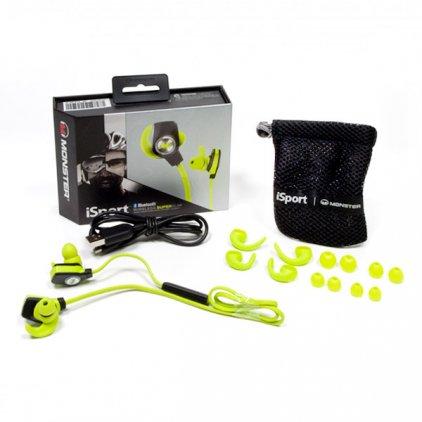 Monster iSport Bluetooth Wireless SuperSlim In-Ear Green (128652)