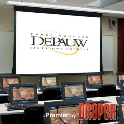 "Draper Premier HDTV (9:16) 302/119"" 147x264 CRS ebd 12"" c"