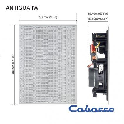 Встраиваемая акустика Cabasse Antigua in wall/pair