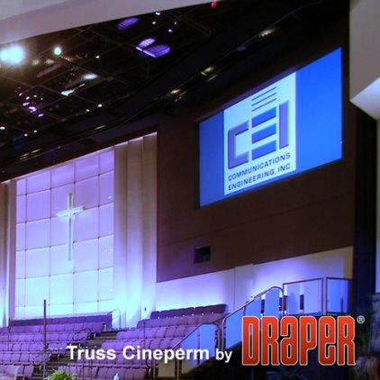 """Draper Cineperm HDTV (9:16) 234/92"""" 114*203 HDG"""