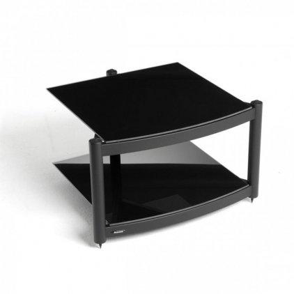 Atacama EQUINOX RS-2 Shelf Base Module Hi-Fi Silver/ARC Piano Black Glass