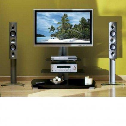 Стойка под телевизор Sanus PFFP2 black/silver