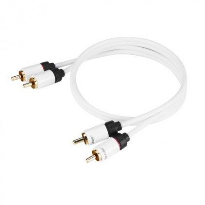 Кабель межблочный Real Cable 2RCA-1 0.5m
