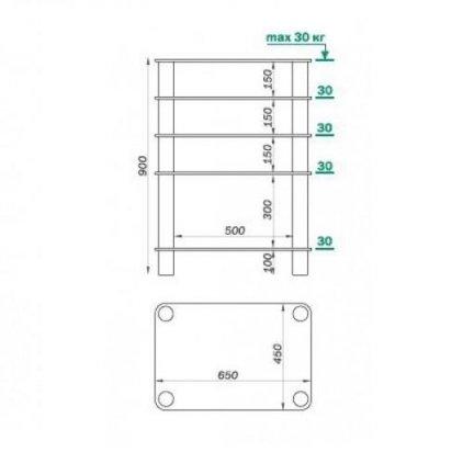 Подставка под аппаратуру MD 108-5 (хром/прозрачное стекло)