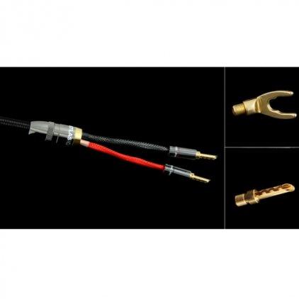 Акустический кабель Atlas Mavros Wired (2x4) 7.0m Transpose Spade Gold