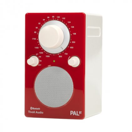 Tivoli Audio PAL BT glossy red/white