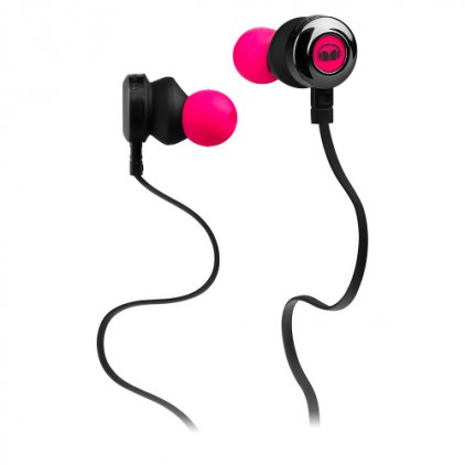 Monster Clarity HD High Definition In-Ear Headphones Neon Pink (128668)