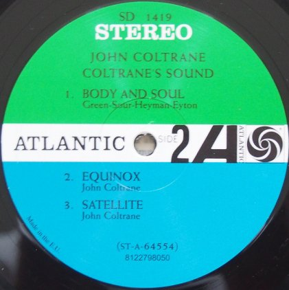 John Coltrane COLTRANE'S SOUND (180 Gram)