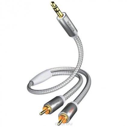 In-Akustik Premium MP3 3.5 мм <> 2RCA 5.0m #00410005