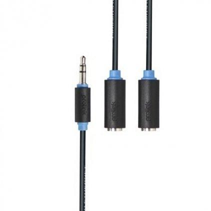 Кабель межблочный Prolink PB107-0030 (3.5Jack - 2x3.5Jack (M-F), стерео-аудио, 0,3м)