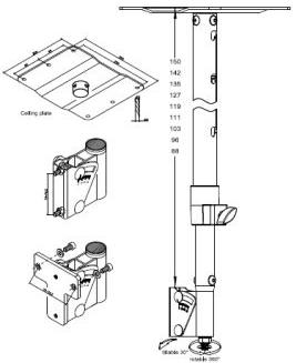 Аксессуар Genelec GENELEC 8000-415B потолочное крепление, черное