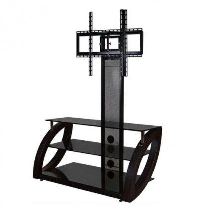 Подставка Akur Фантом 1000 с плазмастендом (черный + тонированное стекло + черный)