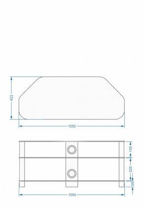 Подставка под TV и Hi-Fi Akma V3-1515 black (СВ.01.34.155-14/4)