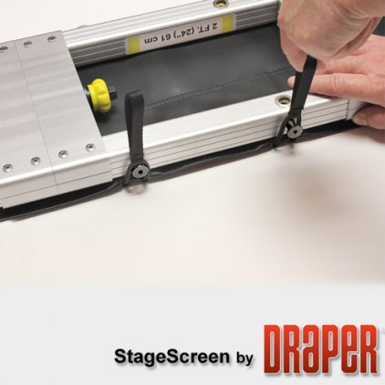 "Draper Stagescreen 1049/413"" 514*914 BM1300 (black backed)"