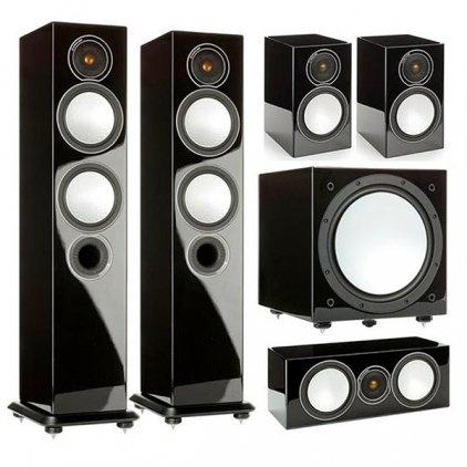 Комплект Monitor Audio Silver set 5.1 high gloss black (6+1+Centre+W12)