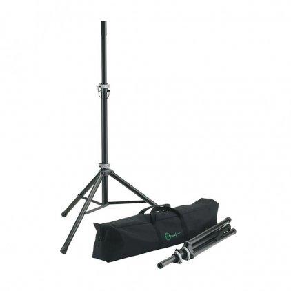 K&M K&M 21459-000-55 стойка для акустических систем, комплект 2 штуки с чехлом, высота 1270 - 1930 мм, нагрузка до 50 кг