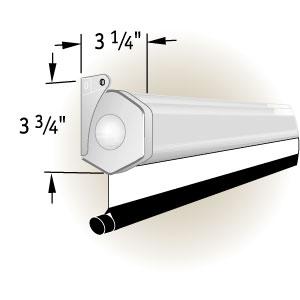 """Draper Luma HDTV 92"""" MW case white (9:16, 114*203) 207100"""