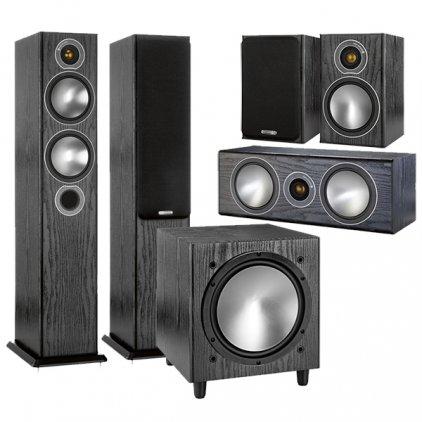Комплект Monitor Audio Bronze set 5.1 black oak (5+1+Centre+W10)