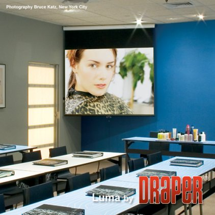 "Draper Luma HDTV (92""/16:9) 114x203 HCG ebd 12"" case whit"