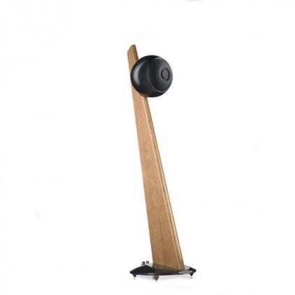 Cabasse iO2 on stand (Light oak/Glossy black)