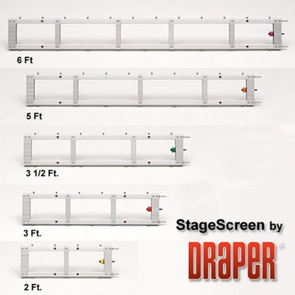 "Draper Stagescreen NTSC (3:4) 1143/450"" 686*914 BM1300 (black backed)"