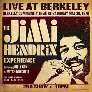 Виниловая пластинка Jimi Hendrix LIVE AT BERKELEY (180 Gram)