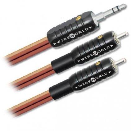 Кабель межблочный аудио Wire World Nano-Eclipse Mini Jack to 2 RCA 3.0m