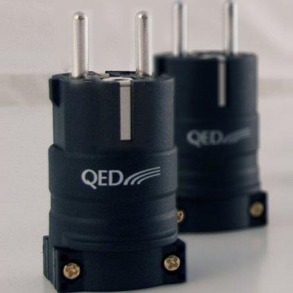 QED Reference Euro Plug Rhodium QE3092