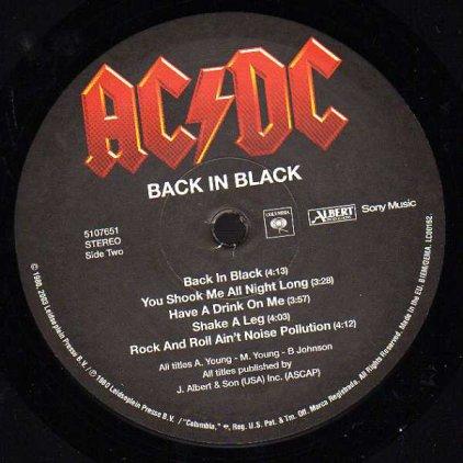 Виниловая пластинка AC/DC BACK IN BLACK (Remastered/180 Gram)