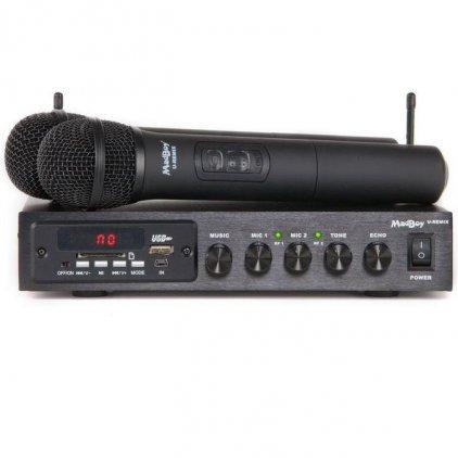 Микшер с двумя микрофонами MadBoy U-REMIX