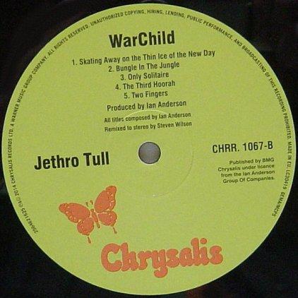 Jethro Tull WARCHILD THE 40TH ANNIVERSARY THEATRE EDITION (180 Gram)
