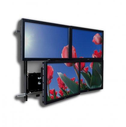 EuroMet 12476  Система креплений для сборки видеостены, 2х2 метра, настенное исполнение.