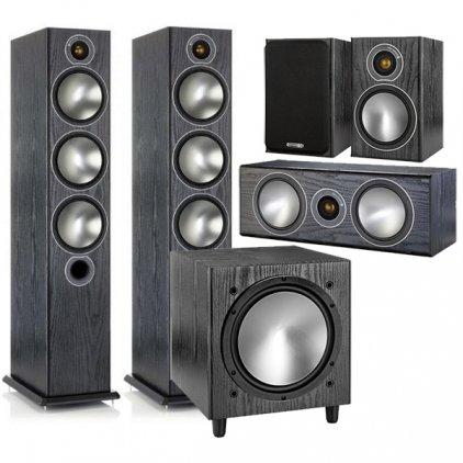 Monitor Audio Bronze set 5.1 black oak (6+1+Centre+W10)