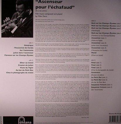 Miles Davis ASCENSEUR POUR L'ECHAFAUD (180 Gram/+ 16 Bonus tra