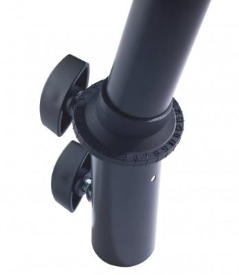 Крепление K&M K&M 19674-000-55 Ring Lock наклонный адаптер для стоек 35 мм, сталь, чёрный