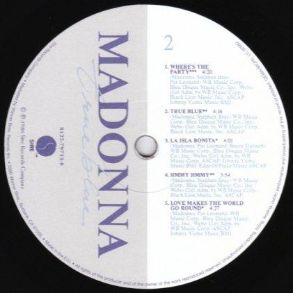 Виниловая пластинка Madonna TRUE BLUE (Remastered)