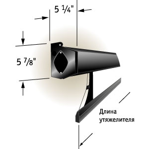 """Экран Draper Premier HDTV (9:16) 302/119"""" 147*264 CRS ebd 110cm case black"""