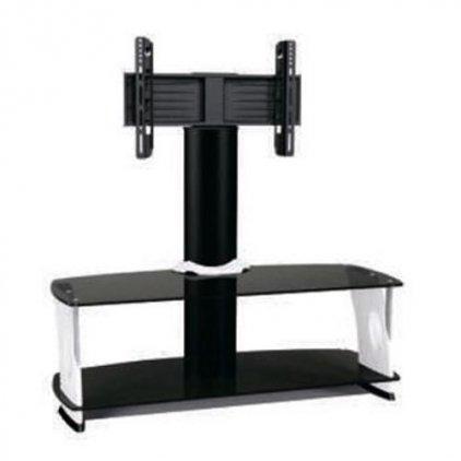 Подставка под телевизор MD 562.1010 (черный/дымчатое стекло/красный)