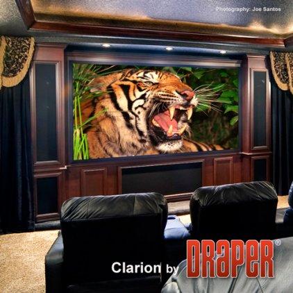 "Draper Clarion HDTV (9:16) 409/161"" 203*356 HDG (натяжной"